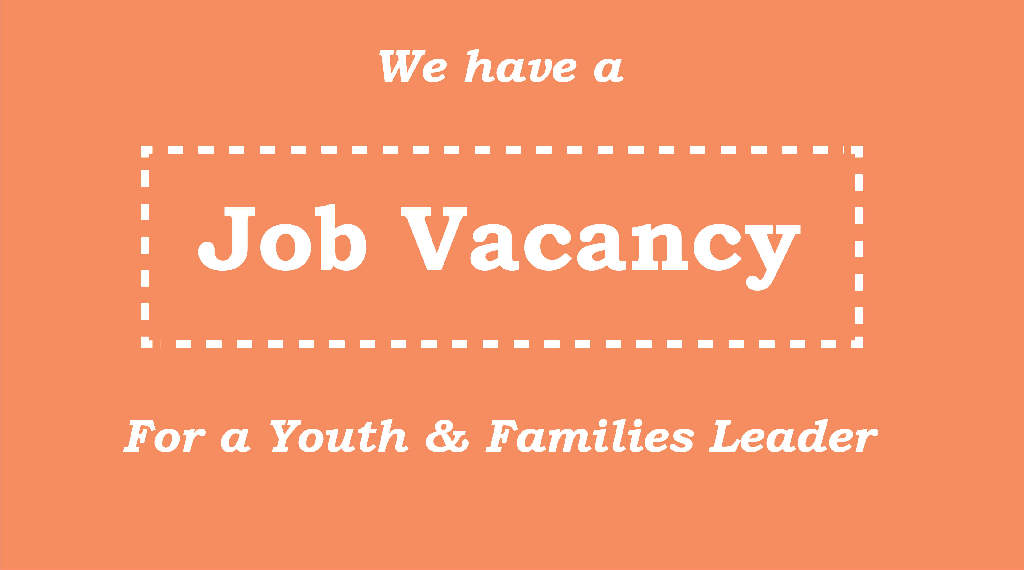 Youth worker vacancy