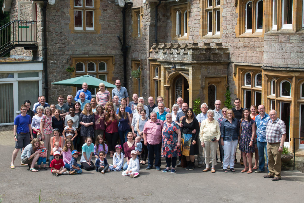 A photo of Mack church members stood outside Lindors Country House Hotel during the weekend away